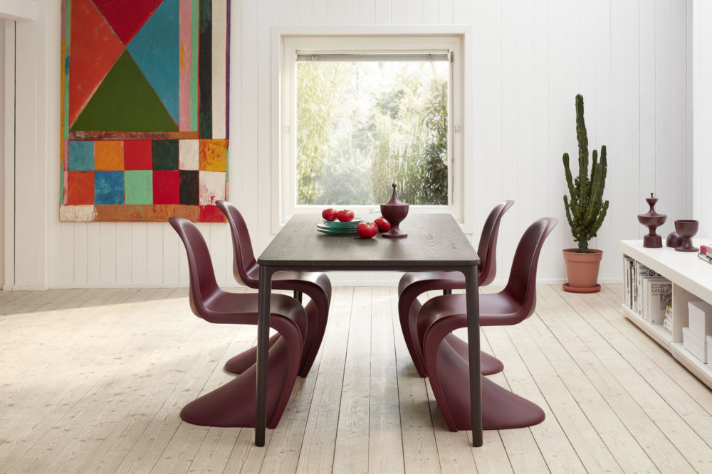 Panton Chair - Plate Dining Table Panton Ceramic Containers - Vitra - Aucoot Estate Agent